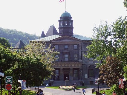 This Wikipedia file photo of the Arts Building on the campus of McGill University is becoming a familiar site for American college students. McGill is Canadas highest regarded university and a destination for American students seeking to study in Canada.