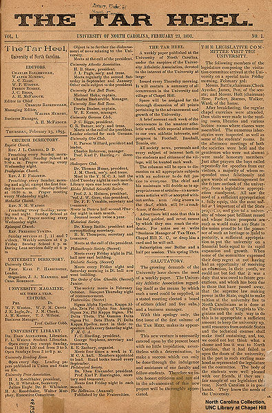 Founded in 1893, UNC-Chapel Hills newspaper continues to thrive in both print and online form.
