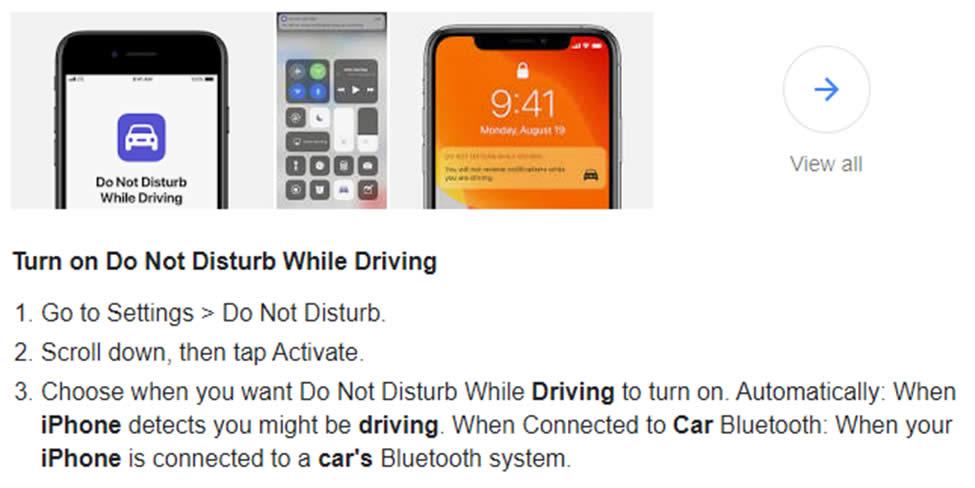 phone instruction